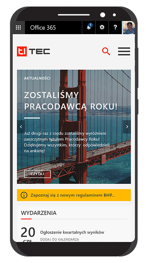 intranet firmowy mobile