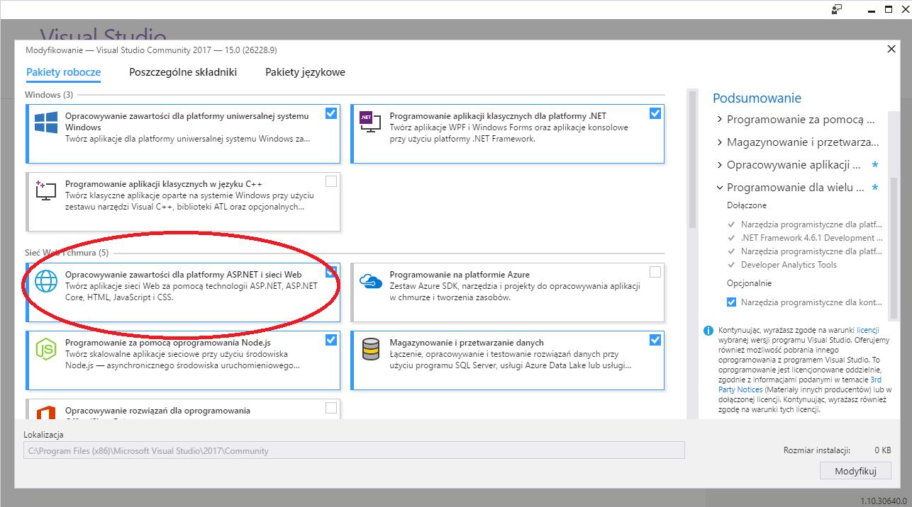 Modyfikowanie Visual Studio