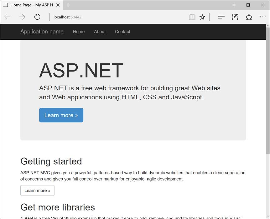 szkielet aplikacji internetowej ASP.NET