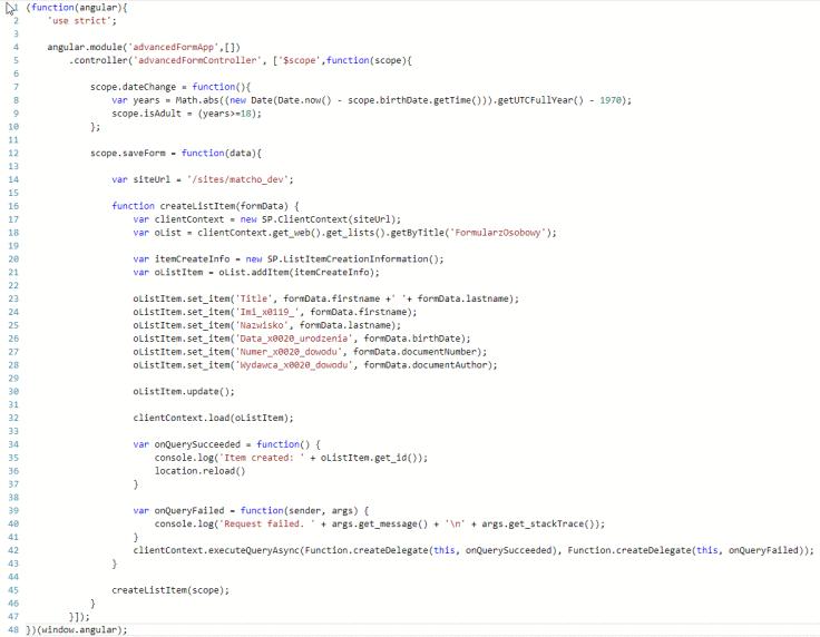 funkcja odpowiedzialna za zapis danych do listy