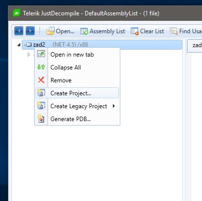 Eksport kodu CLI do C#