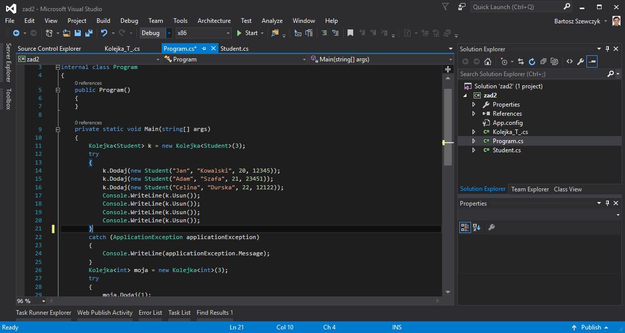 projekt w Visual Studio