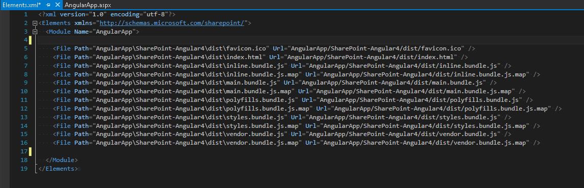 modyfikacja pliku Element.xml