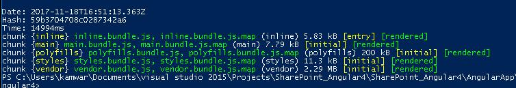 polecenie npm run build –prod