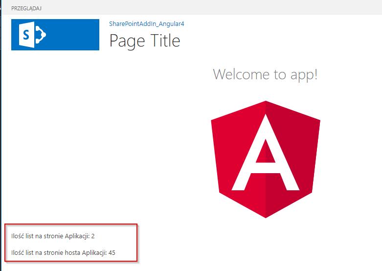 Angular4 app