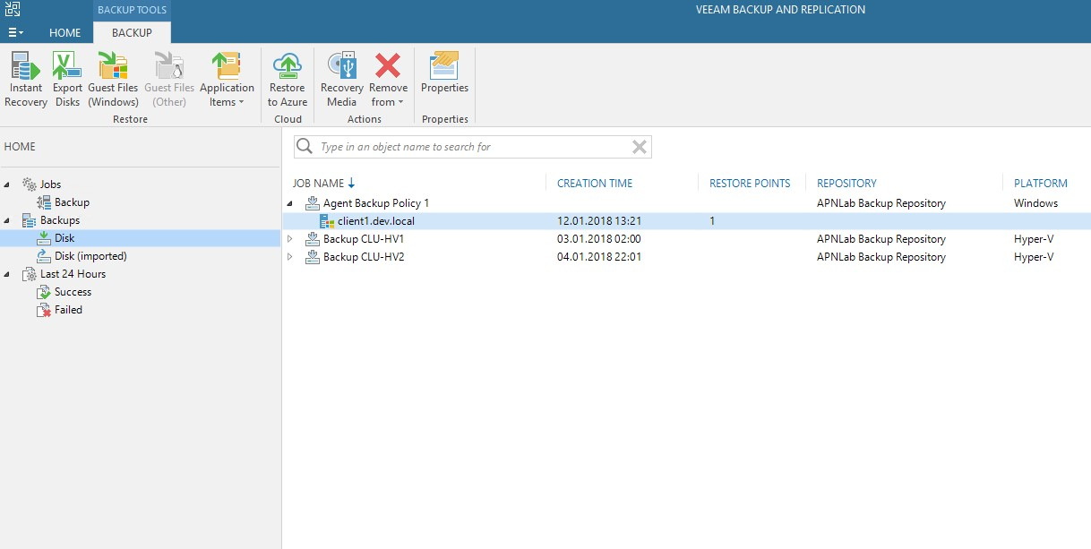 Veeam Backup & Replication kopia zapasowa