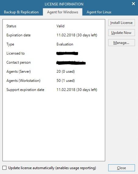 Veeam Backup & Replication dodawanie licencji