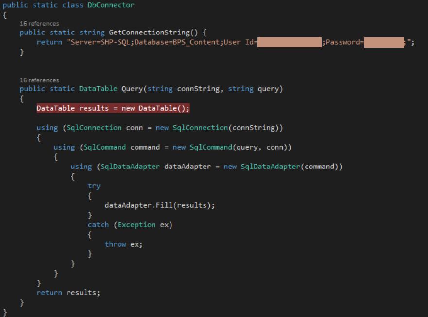 łączenie się z bazą danych MSSQL