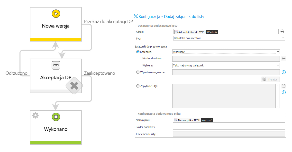 Proces modyfikacji wzorca do generowania dokumentów w WEBCON BPS