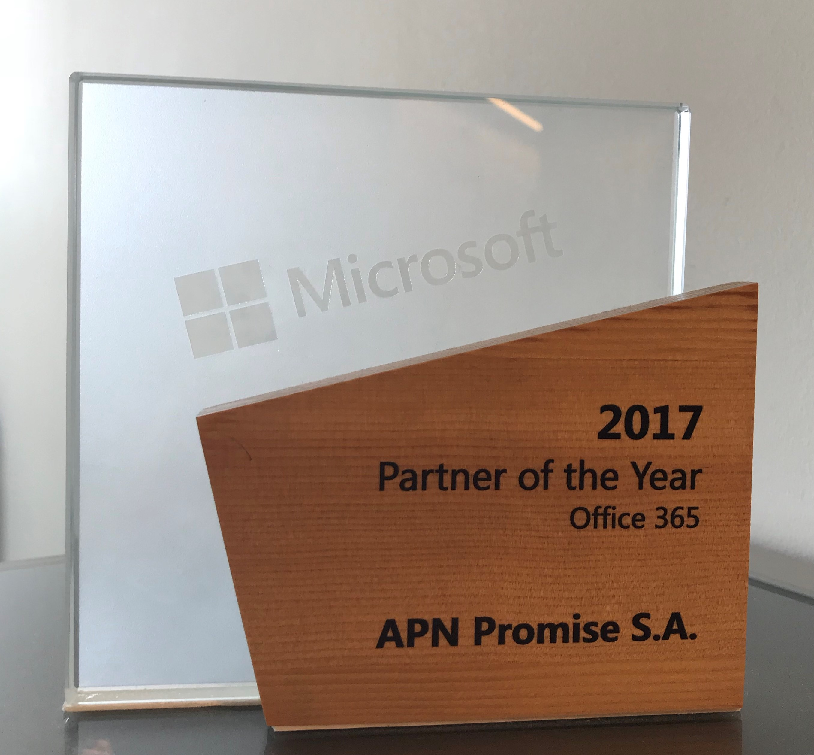 APN Promise Microsoft Partner of The Year Office 365