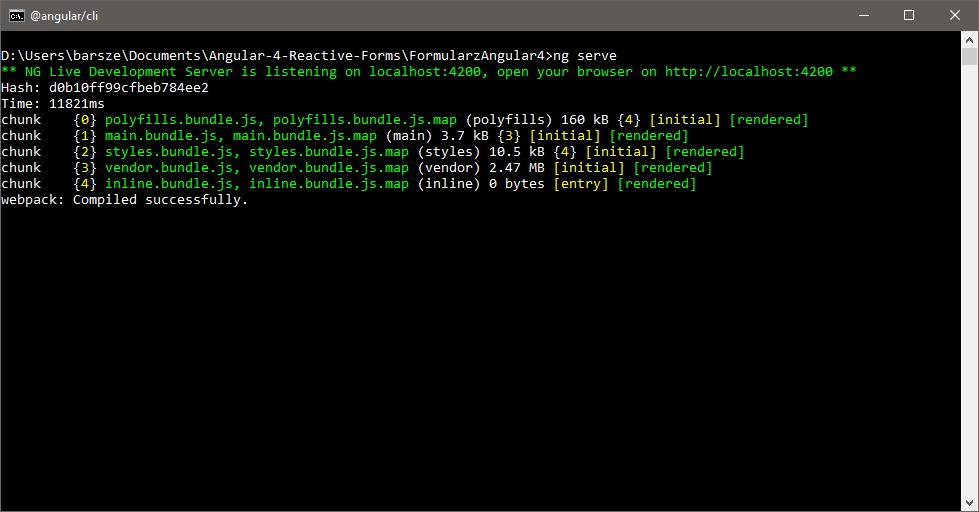 Angular CLI - tworzenie projektu