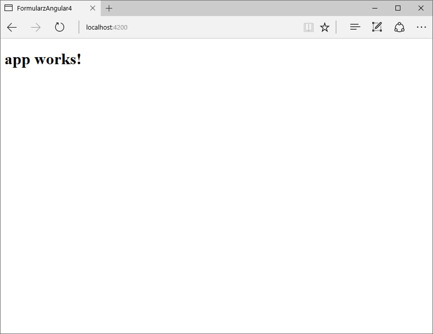 formularz Angular działa