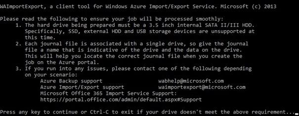 import export w Azure