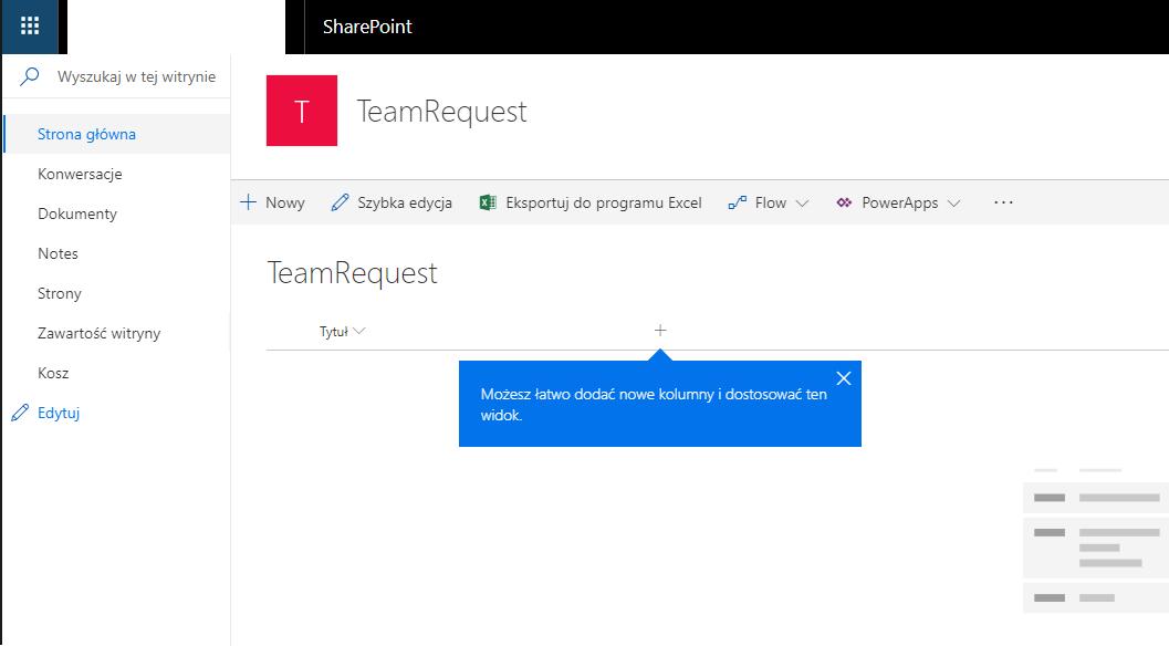 Team request