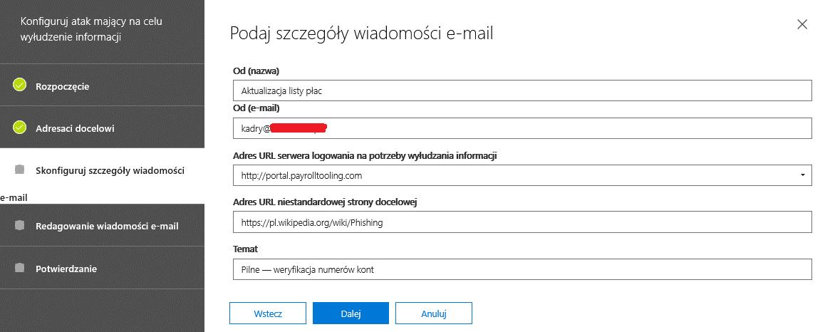szczegóły wiadomości e-mail