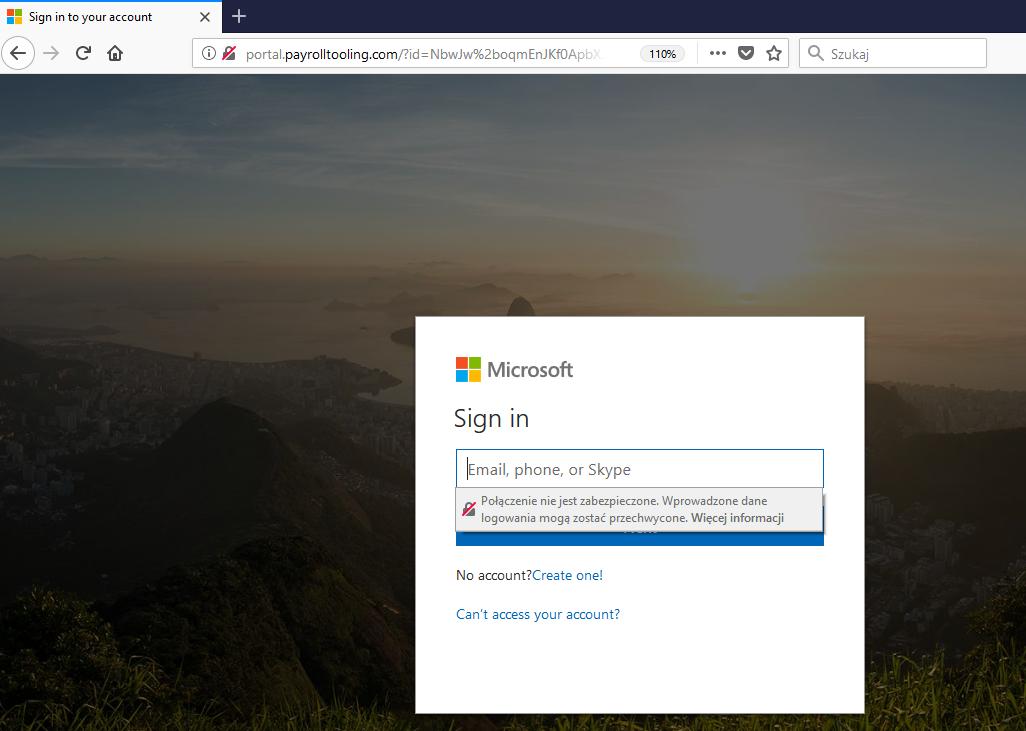 logowanie kontem Microsoft