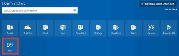 Microsoft Flow w Office 365