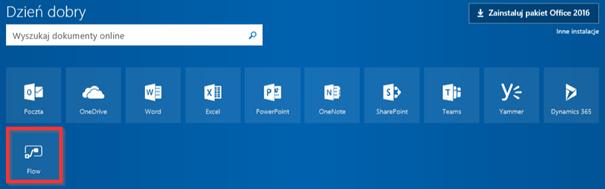 Microsoft Flow w Office 365