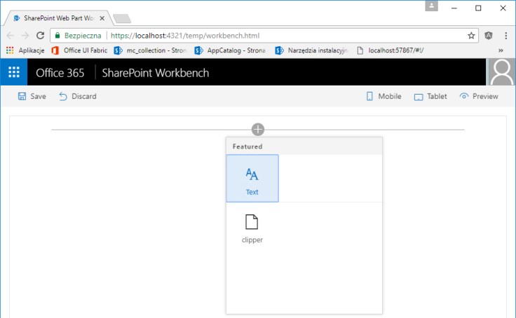 Webpart template