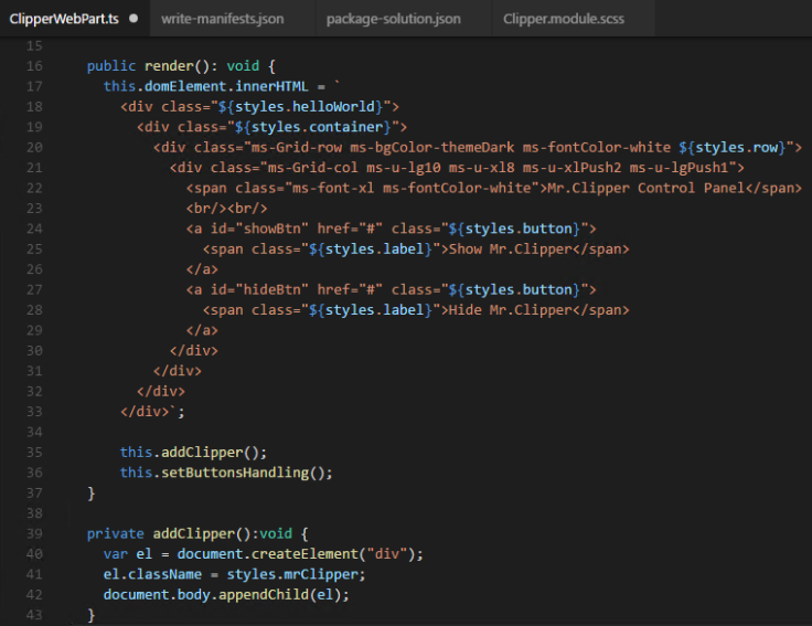 funkcja wewnątrz funkcji render