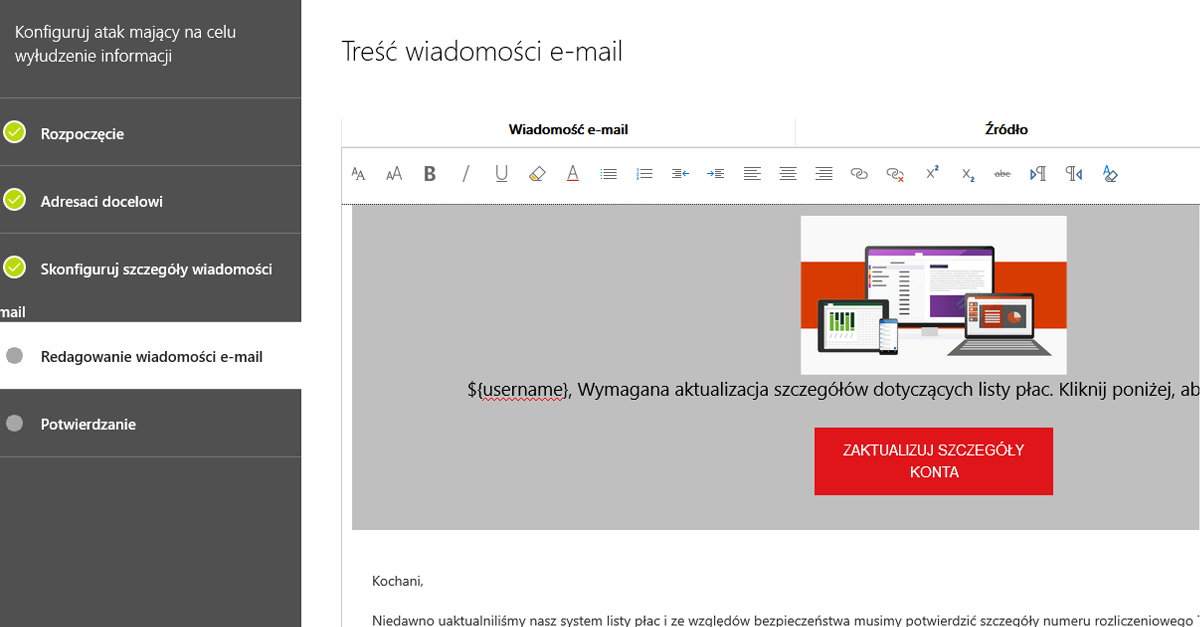 Symulator ataku Office 365