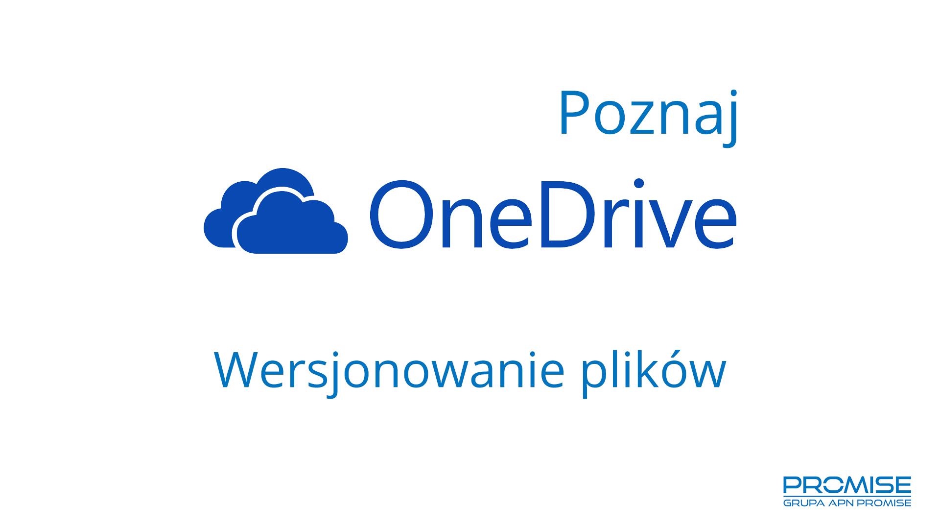 OneDrive wersje plików