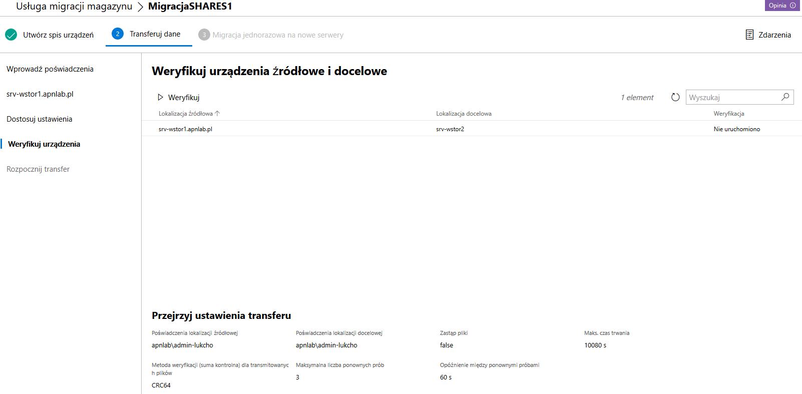 Windows Admin Center weryfikacja rządzeń