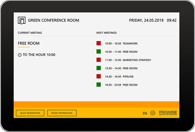 meeting room booking system with outlook exchange