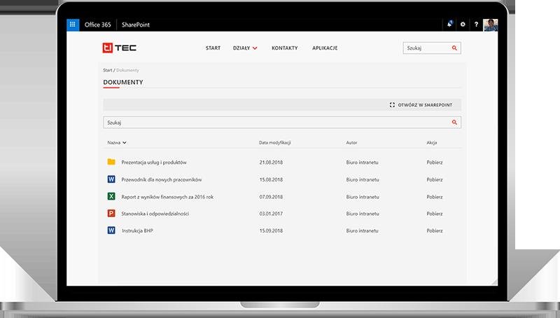 intranet firmowy repozytorium dokumentów