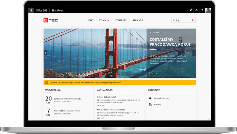 intranet w firmie software Office 365