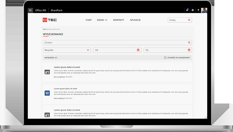 sharepoint intranet wyszukiwanie