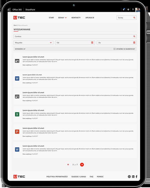 intranet software wyszukiwanie
