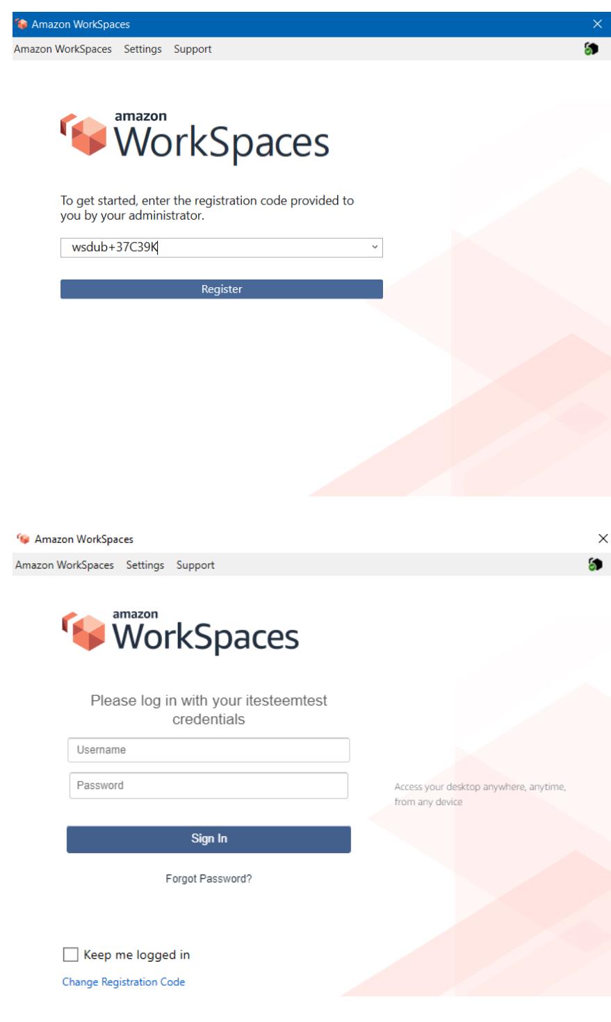 Amazon WorkSpaces login 12