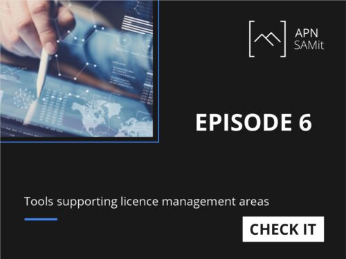 Tools supporting licence management areas 6