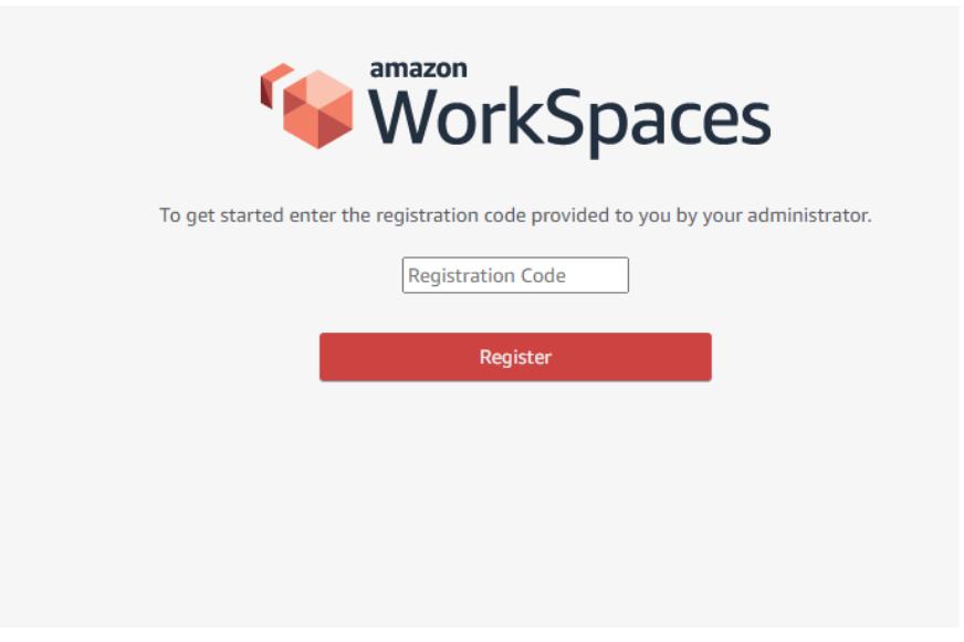 amzn work spaces registration code 14