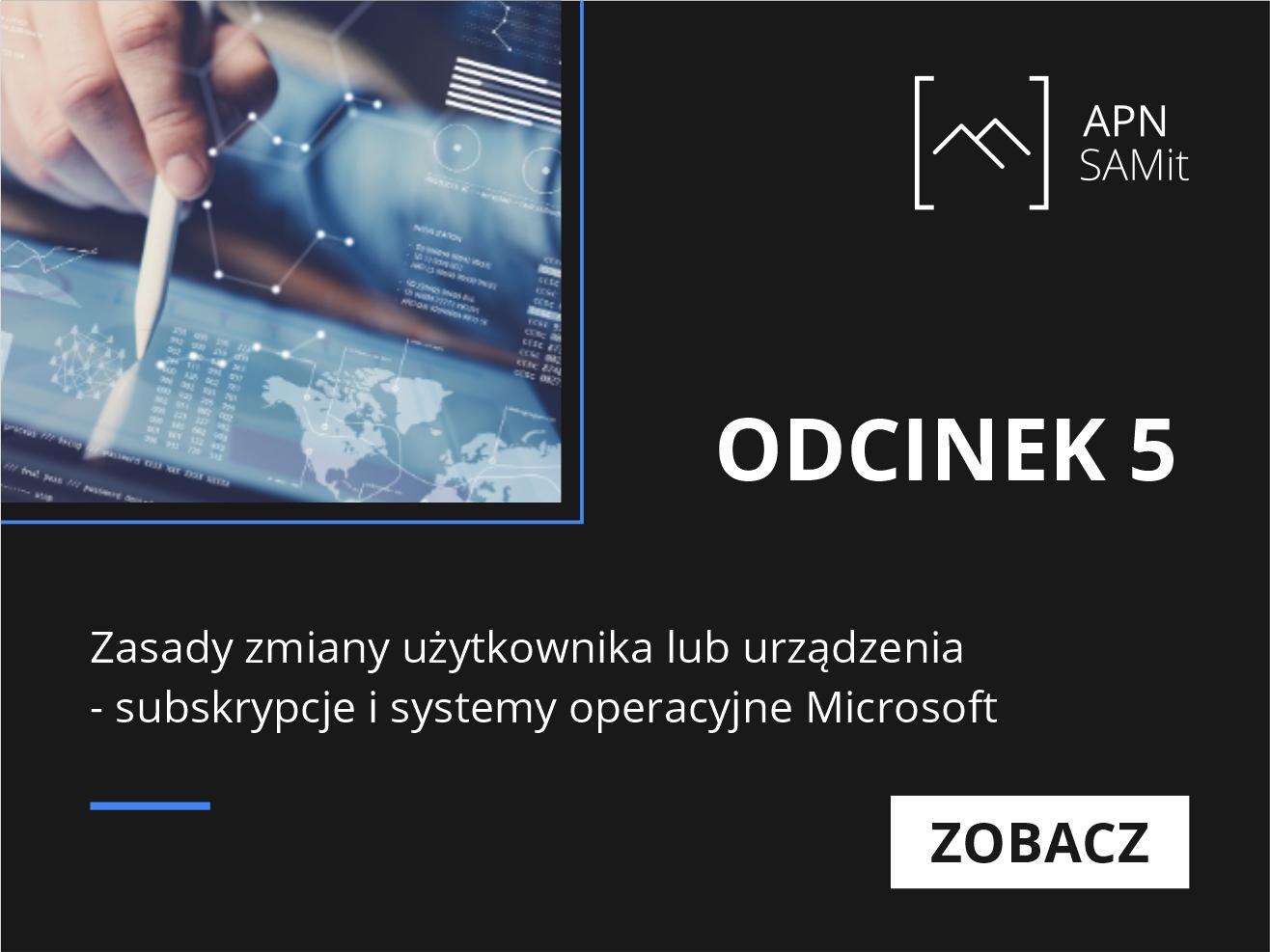 subskrypcje i systemy operacyjne Microsoft 5