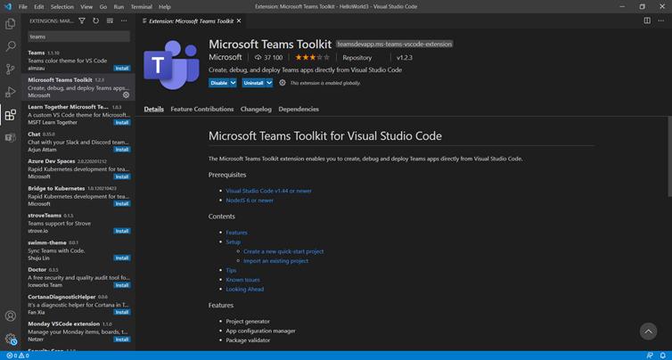 Microsoft Teams Toolkit