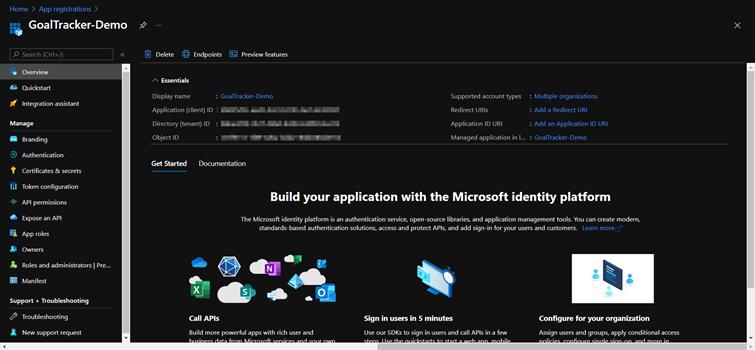 Rejestrowanie aplikacji w Azure